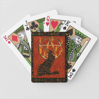 Wolf Pentagram Bicycle Playing Cards