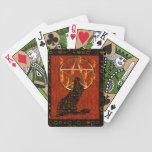 Wolf Pentagram Card Deck