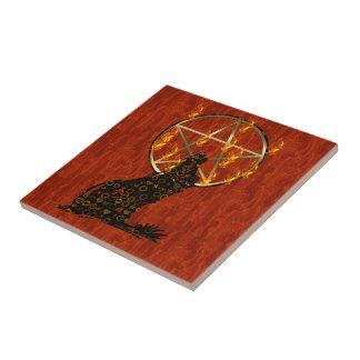 Wolf Pentagram Ceramic Tile