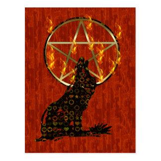 Wolf Pentagram Postcard