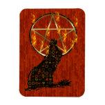 Wolf Pentagram Rectangle Magnets