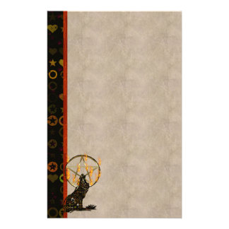 Wolf  Pentagram Stationery