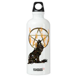 Wolf Pentagram Water Bottle