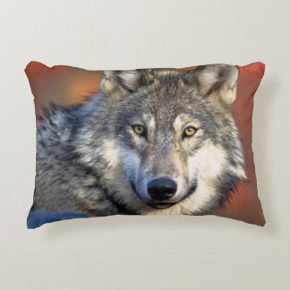 Wolf Photograph Image Accent Pillow