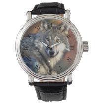Wolf Photograph Wrist Watch