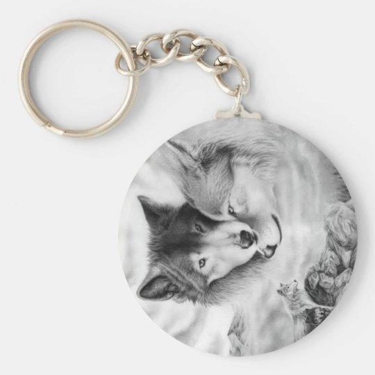 wolf pic 3-2 keychain