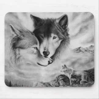 wolf pic 3 mouse pad