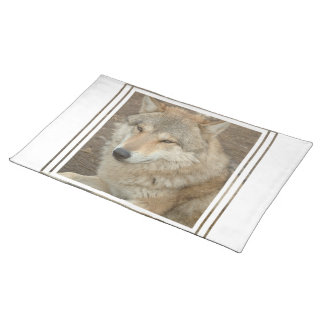 Wolf Placemat Cloth Placemat