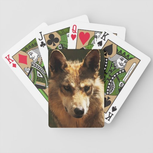 Wolf Playing Cards