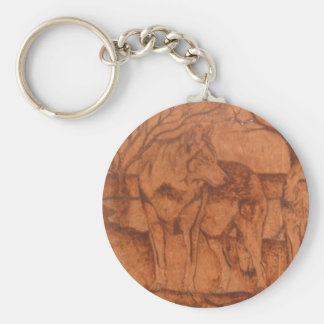 wolf.PNG Wolf Wood Burning Keychain