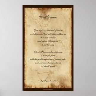 """Wolf Poem"" Poetry Poster VII"