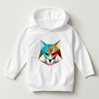Wolf polygon Toddler Pullover Hoodie