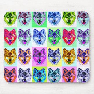 Wolf Pop Art Mouse Pad