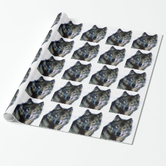Wolf Portrait Christmas Gift Wrapping Paper