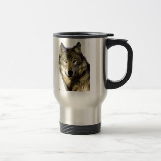 Wolf Portrait 15 Oz Stainless Steel Travel Mug