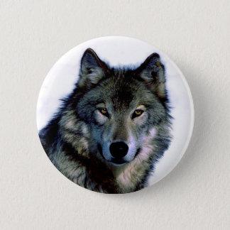 Wolf Portrait Pinback Button