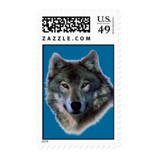Wolf Portrait Postage Stamp