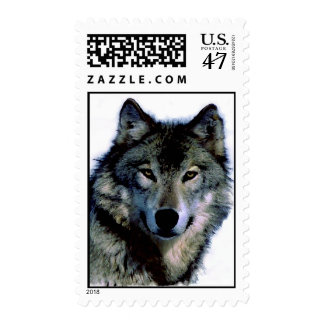Wolf Portrait Postage Stamps