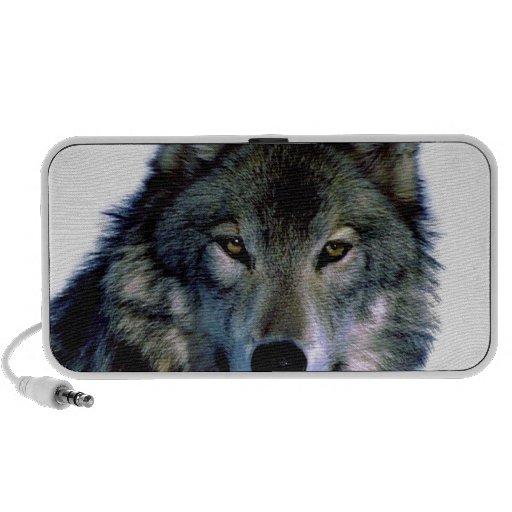 Wolf Portrait Portable Speakers