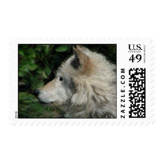 Wolf Postage Stamp