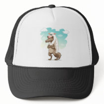 Wolf pretending to be sheep trucker hat
