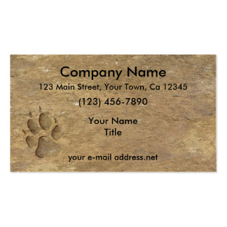 Wolf Print, Business Card