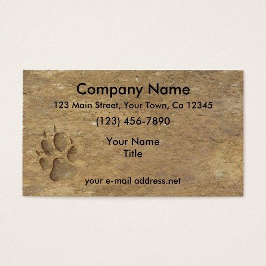 Wolf Print Business Card