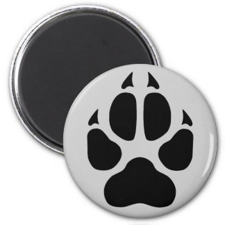 Wolf Print Magnet