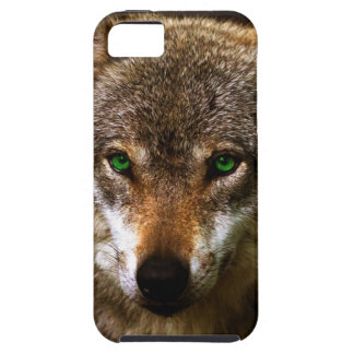 Wolf Profile with green eyes ~ editable background iPhone SE/5/5s Case