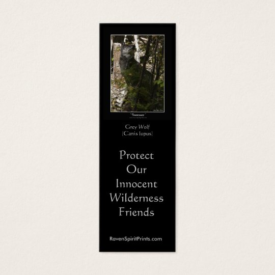 WOLF PROTECTION Bookmarks \ Profile Cards