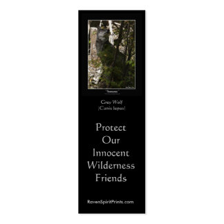 WOLF PROTECTION Bookmarks \ Profile Cards Business Cards