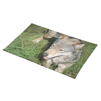 Wolf Prowl Placemat Cloth Placemat