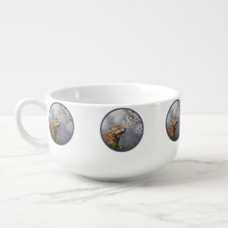 Wolf Pup and Blossoms Soup Mug