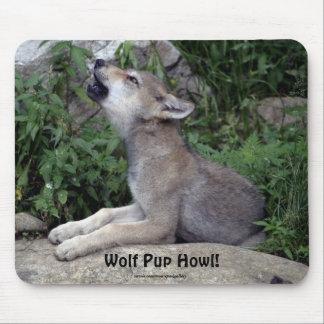Wolf Pup Howl Animal Mousepad