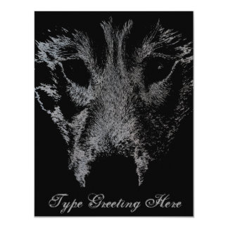 Wolf Pup Invitations Personalized Husky Wolf Card