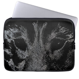 Wolf Pup Laptop Case Siberian Wolf Pup  Eyes Gifts Laptop Computer Sleeve