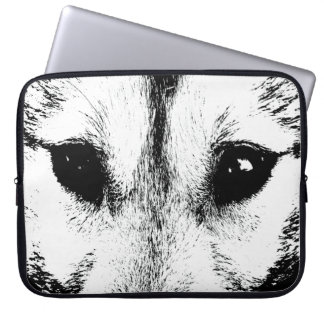 Wolf Pup Laptop Case SiberianWolf Pup  Eyes Gifts Computer Sleeve