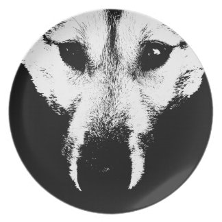 Wolf Pup Plate Sled Dog Gifts