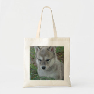 Wolf Pup Tote Canvas Bags