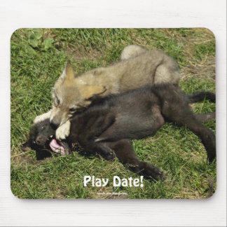 Wolf Puppies Play Date Animal Mousepad