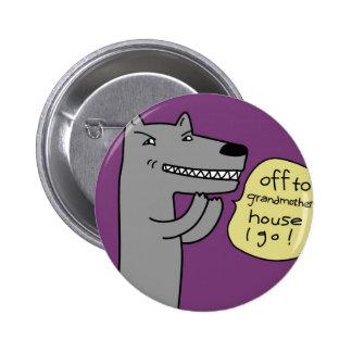 Wolf (purple) pinback buttons