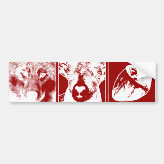 Wolf, Ram and Heart Bumper Sticker