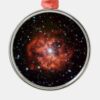 Wolf-Rayet star Round Metal Christmas Ornament