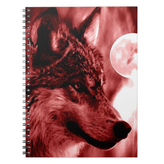 Wolf & Red Night Notebook