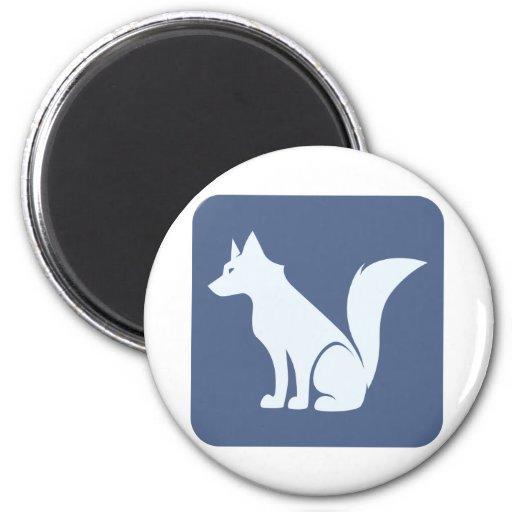 Wolf Refrigerator Magnet