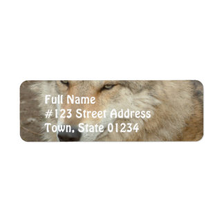 Wolf Return Address Label