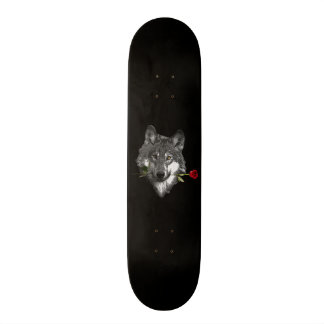 Wolf Rose Skateboard
