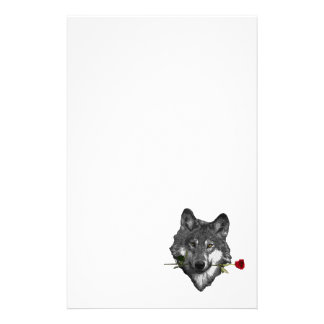 Wolf Rose Stationery