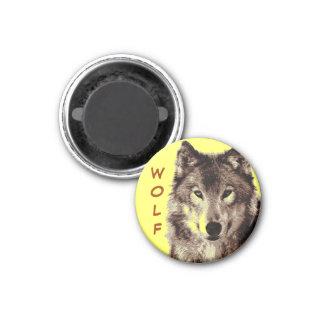 Wolf Round Magnet