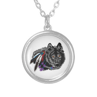 Wolf Round Pendant Necklace